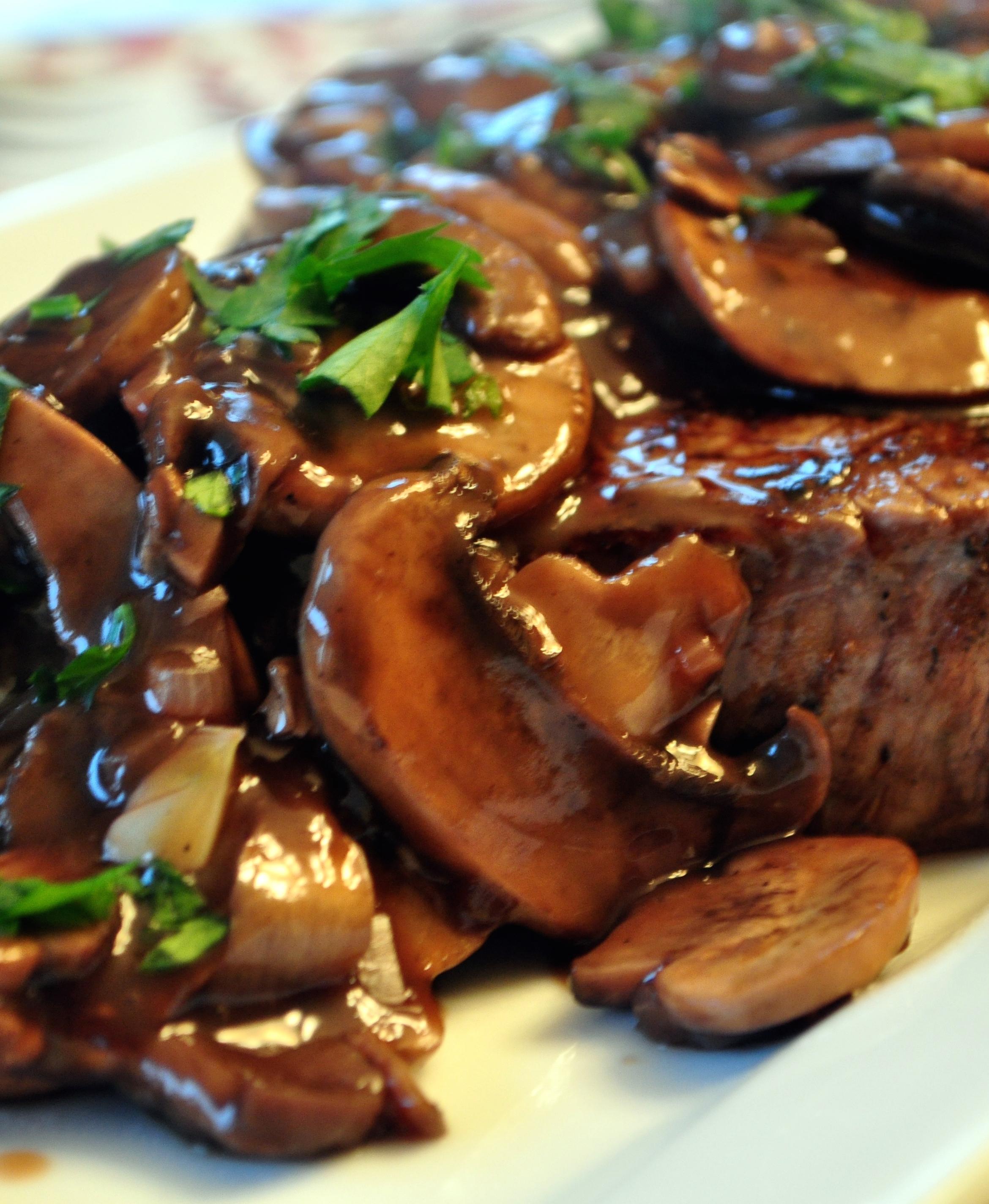 Beaf Tenderloin mushrooms