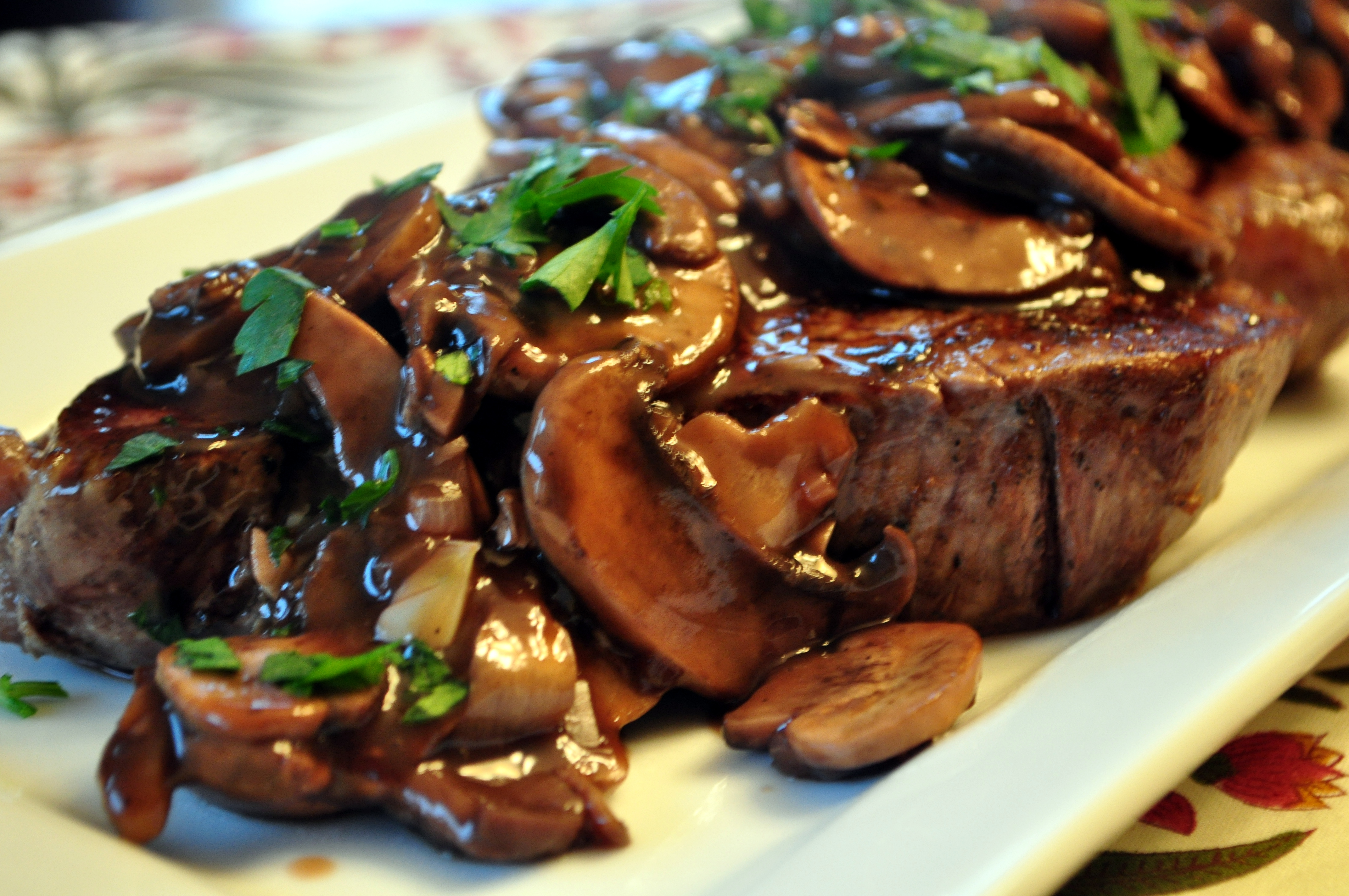 Beaf Tenderloin mushrooms