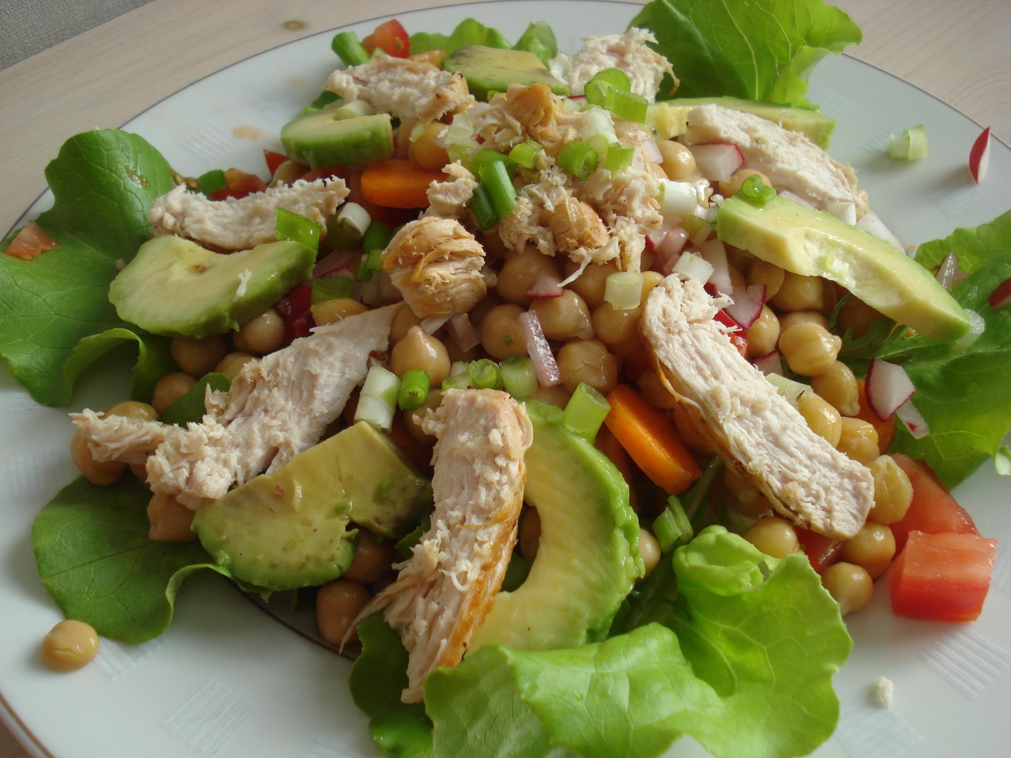 maaltijd salade kip claustru's branco