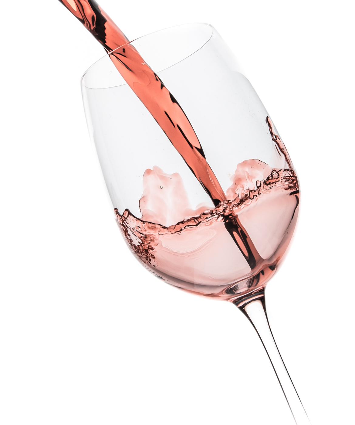 Rose wijn glas