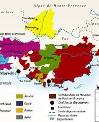 Cotes de Provence map
