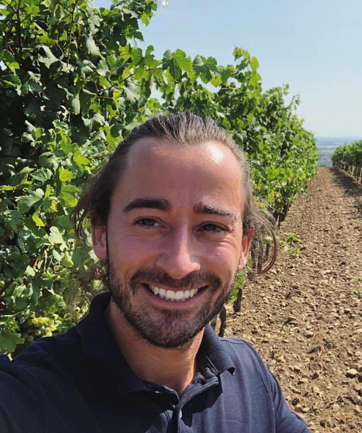 Gottfried Mittelbach in vineyards