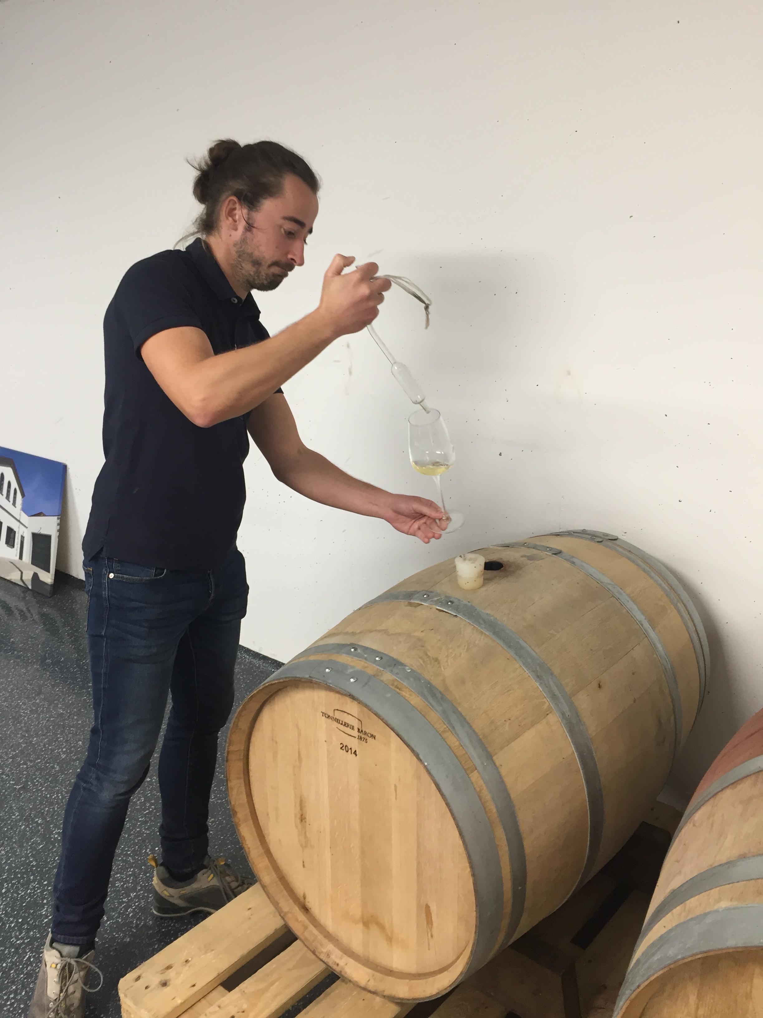 Weingut Mittelbach oak tasting