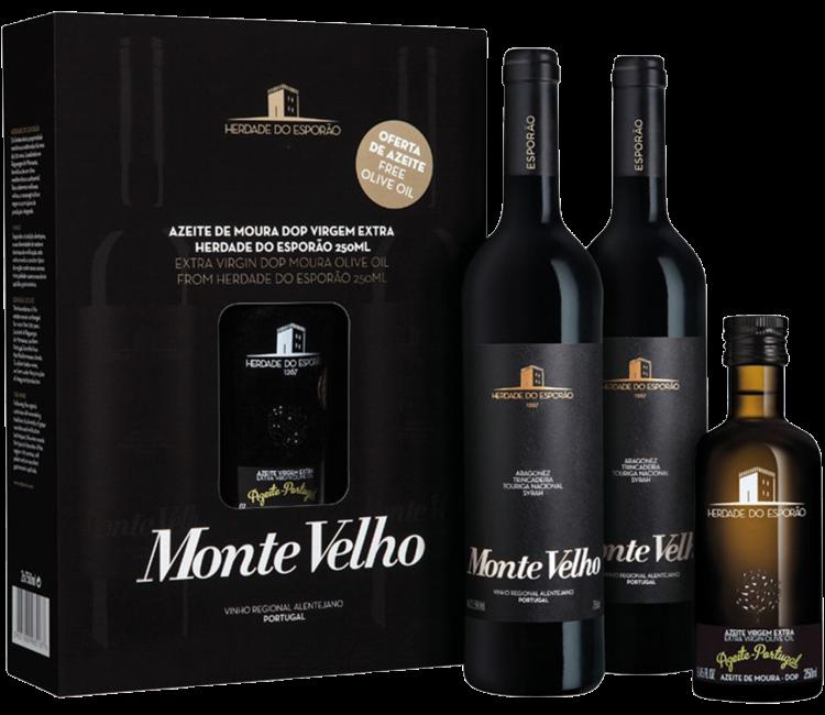 Relatiegeschenk Monte Velho Tinto Olijfolie Giftbox
